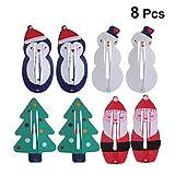 Frcolor 8 stücke Schöne Weihnachten Themen Haarspangen Weihnachtsmann Schneemann Baum Haarspangen...