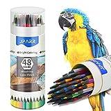 Farbstifte,Set mit 48 Farben in einem Fass, weiche Kerne auf Wachsbasis, zum Zeichnen, Skizzieren,...