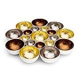 ZEYA Teelichthalter Gold Silber kupferfarben | Metall | perfekte Tisch Dekoration für Weihnachten |...