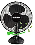 Tischventilator 23 cm 25 Watt | Ventilator | Rotation zuschaltbar | oszillierend | leiser Betrieb |...