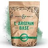 L Arginin Base Pulver - 500g Veganes Arginin Base Pulver 5g pro Tagesdosis - L-Arginin Ist Die...