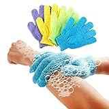 4 Paar Badehandschuhe, Duschhandschuhe, Peeling, Waschhaut, Massage, Körperreiniger,...