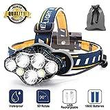 SYOSIN Stirnlampe,7 LED 17000 Lumen Kopflampe,Superheller USB Wiederaufladbare Wasserdicht...