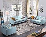 Vlejoy Modern Wohnzimmer Teppich Grauer Teppich Orientteppich Einfache Dekoration-140x200cm