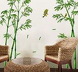 Bambus Wohnzimmer Sofa Tv Hintergrund Studie Pvc Wandaufkleber 60X90cm