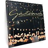 Gstebuch fr Hochzeit Geburtstag Party - Mattes Hardcover mit 100 blanko Seiten und hochwertiger...