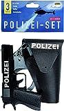 Idena 8040007 - Polizei- Set, Pistole, Halfter und Handschellen, 3-teilig