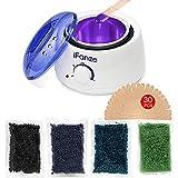 Wachswärmer mit Wachsperlen für Haarentfernung, iFanze Wax Wärmer Wachsbohnen Waxing kit, Wax...