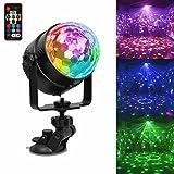 USB Wiederaufladbar Partylicht LED Discokugel Partybeleuchtung, Stimmungslicht 7 Modi Disco Glhbirne...