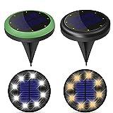 Solarlampen Für Den Garten Im Freien, Led Solar Stehleuchten Solar Bodenleuchte Solarweglampen...