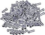 Yicare 100Pcs Bowdenzug Fahrrad Endkappen Bremszug Endhülsen Schaltzug Endkappen Silber Aluminum...