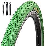 1 x Roverstone Fahrradreifen grün 28x1,4 Zoll (700x35c) inkl. Reifenheber