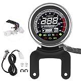 Motorrad-Tachometer, Motorrad-Anzeige LCD-Digitalanzeige Multifunktions-Tachometer Drehzahlmesser...