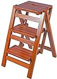 Klappbarer 3-Fu-Hocker/Leiter/Stuhl aus Massivholz Tragbarer Treppenhocker fr die Sicherheit zu...