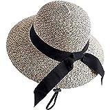 XYBCSM Sommermützen für Damen, Hüte für große Köpfe, faltbar, Strohhut für Damen, Strand,...