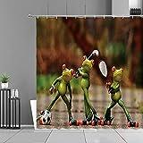 XCBN Cartoon Frosch Duschvorhänge Kreative Frösche Tier Bad Vorhang Kinderzimmer Badezimmer Dekor...