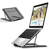 Enllonish Laptop Ständer, Multi-Winkel Verstellbar, Höhe Einstellbar, Faltbar rostfreier Stahl...