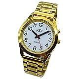 Sprechende Armbanduhr, analog, mit Alarm, Uhrzeit und Datum auf Französisch, für Blind- und...