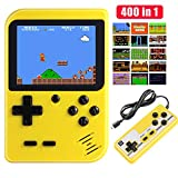 Diswoe Handheld Spielkonsole, 400 Klassische Spielen 2.8-Zoll-LCD-Bildschirm tragbare...