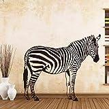 BailongXiao Attraktive Zebra Pinto Wandaufkleber Hintergrund Wandtattoo Schlafzimmer Wohnzimmer...