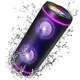 VOKSUN Kabelloser Bluetooth Lautsprecher 5.0, 40W Tragbarer Bluetooth Box mit Fantastischer TWS...