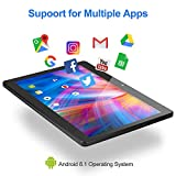 10.1 Zoll Android Tablet PC, Android 8.1, Quad Core CPU, Dual SIM Card, 64GB+2GB, IPS HD (1280x800),...