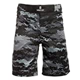 Savage Cut Kampfstil MMA Workout Shorts für BBJ, Boxen, MMA, Muay Thai, Krav MAGA - Schwarz -...