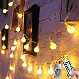 [120 LED] Lichterkette Kugel, 12M 8 Modi und Merk Funktion,lichterketten außen/innen mit Stecker,...