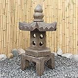 Asien Lifestyle Asiatische Steinlaterne (66 cm) aus Naturstein China Pagode Geisterhaus