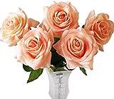 Haroro 5 Teile Künstliche Blumen Künstlich Pflanzen Falsche Rose Plastik Blumen Falsche Pflanzen...