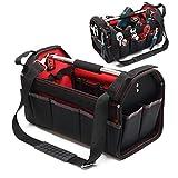 Werkzeugtasche Größe XL mit verstellbarem Schultergurt und Tragegriff Innen- und Außenfächer