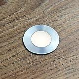 VBLED LED Mini-Bodeneinbauleuchte,Bad-Beleuchtung,rostfreier Edelstahl, IP67 wassergeschützt...