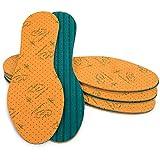 SULPO 4 Paare Einlegesohlen mit Aloe Vera Extrakt Schuheinlagen gegen Schweissfuesse Einlagen für...