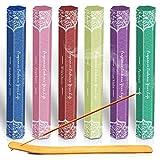 LA BELLEFE Rucherstbchen Set 120 Sticks, 6 Boxen mit 6 Dfte - Sandelholz, Jasmin, Patchouli,...