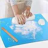 Backmatte Baking Mat Nonstick Rutschfeste Backunterlage mit Messungen Fondant Teig Gebck aus Silikon...