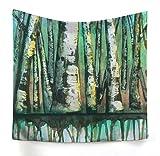 xkjymx Hängetuch Dekotuch Walddruck Tapisserie Bild 4 200X150cm