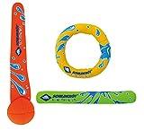 Schildkröt Neopren Diving Set, 3-teiliges Tauchset, je 1 Ring, Stab, Ball, Sandfüllung, weich,...