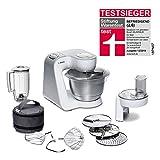 Bosch MUM5 CreationLine Küchenmaschine MUM58W20, vielseitig einsetzbar, große Edelstahl-Schüssel...