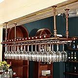 AMBH Weinglasregal, europäischer Stil, hängend, Weinregal, Decke, Weinflaschenregal, Bar Theke,...