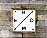 Em2342oe Holzschild Home with Arrows Home Decor