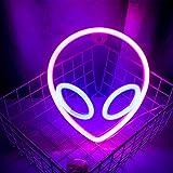 Wanxing Alien Leuchtreklamen LED Neon Wandschild Rosa Blau Neonlichter für Schlafzimmer...