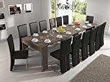 Home Innovation – Ausziehbarer Konsolentisch, Esstisch, bis 301 cm, Eiche dunkel, Maße...