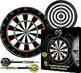 XQ Max Michael Van Gerwen Limited Edition - Dartboard Set mit 2 Spielflächen und 6 Stahl Pfeile