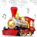 Dampfzug Lokomotive Auto Blase Blasen Bump & Go Batteriebetriebene Spielzeugeisenbahn mit Lichtern...