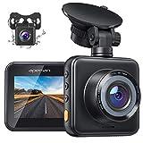APEMAN Dashcam Vorne und Hinten Autokamera, 1080P FHD Mini Dual Lens Kamera, 170 ° Weitwinkel mit...