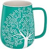 amapodo Kaffeetasse groß aus Porzellan mit Henkel 600ml Jumbotassen Kaffee Tasse Türkis Geschenke...