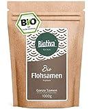 Flohsamen Bio 1kg, ganz - 1000g - 99% Reinheit - Laktosefrei, Glutenfrei, vegan - Abgefllt und...