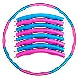 Hula Hoop Reifen Fitness Erwachsene Kinder, Professionelle Hula Hoop 8 Knoten abnehmbares Design...