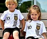 DE-Fanshop Deutschland Trikot + Hose mit GRATIS Wunschname + Nummer + Wappen Typ #D 2017 im EM/WM...