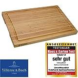 VilleroyBoch Schneidebrett Holz-Brett Küchenbrett Zubereitungsbrett Tranchierunterlage Bambus mit...